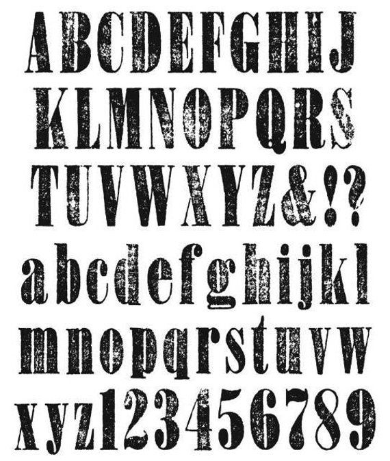 Stampers Anonymous Tim Holtz Cling Rubber Stamp Set 7 by 8.5-Inch Tall Text