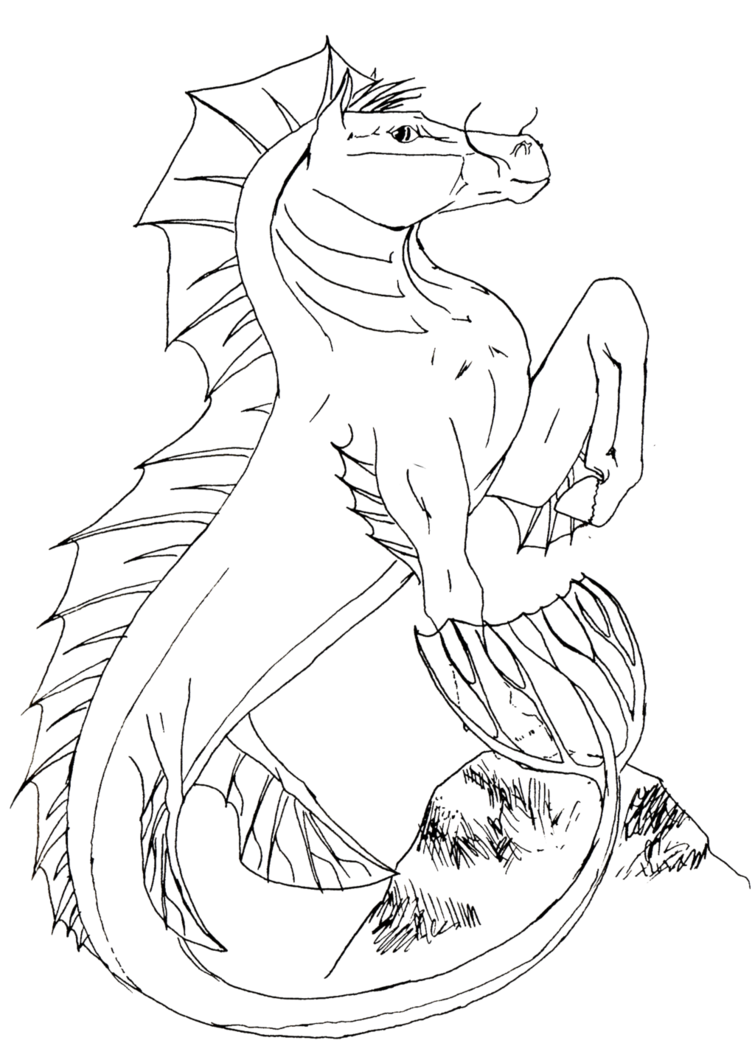 Seahorse Free Lineart Seahorse Coloring Pages Mythical Creatures