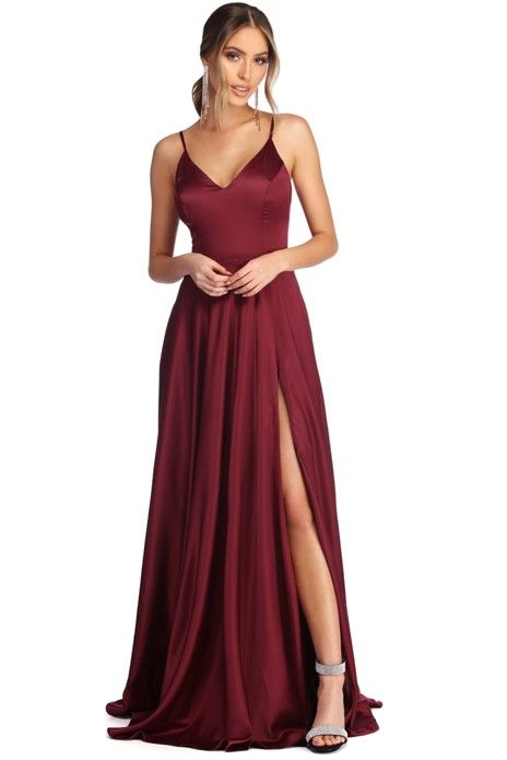 318a4c2f3a Alexandria Formal High Slit Dress in 2019