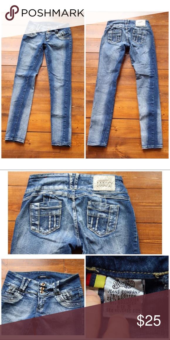 8513c383b47 GOGO STAR Denim Jeans Stretch High Waist Skinny 🌸 Super cute GoGo Star  skinny jeans sz 5 fit more like a sz 3 to me. Waist 14