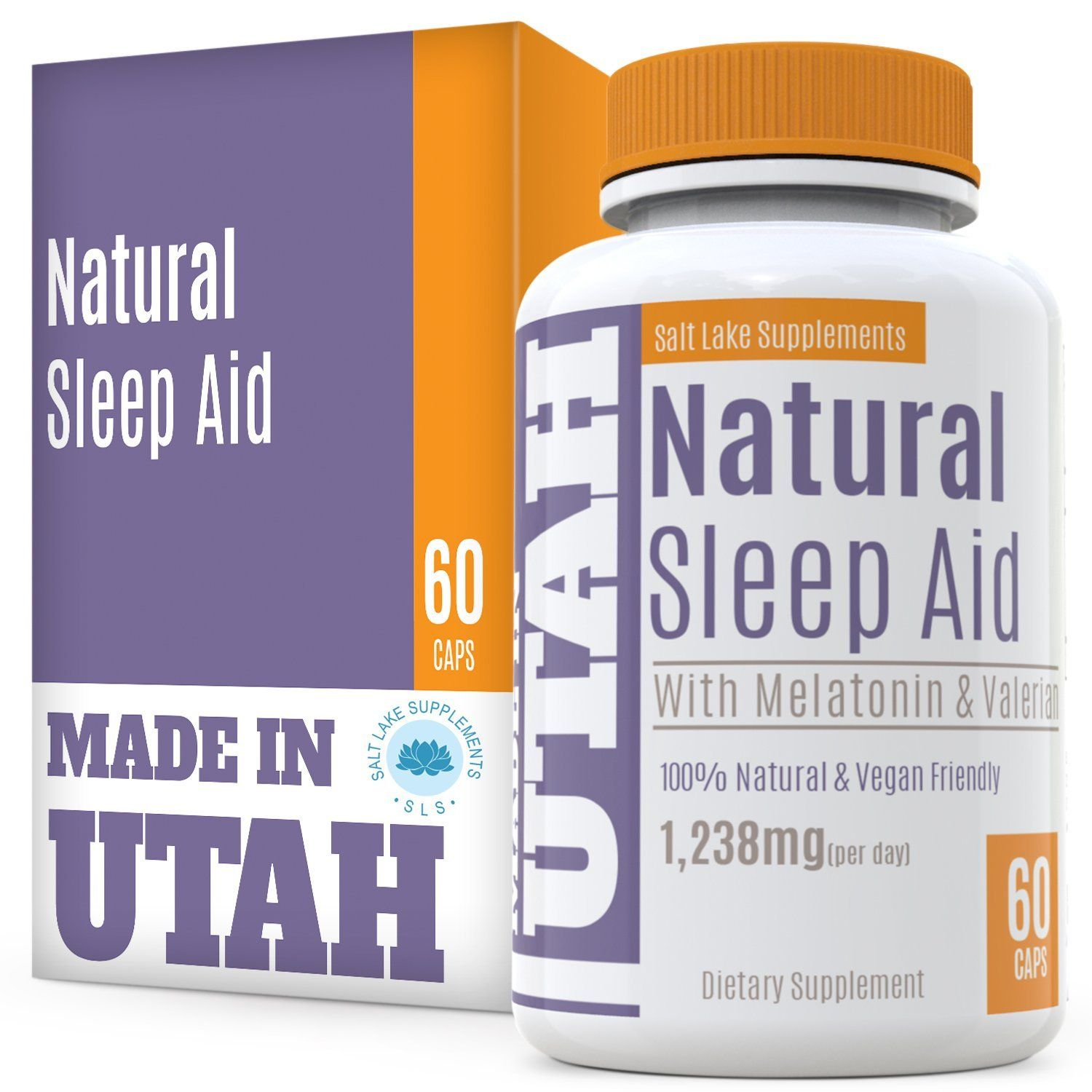 Natural Sleep Aid Is An All-Natural Sleep Formula That Combines Melatonin, Valerian Root And Non-Addictive Extracts Into the Best 100% Safe Sleeping Pill That Will Allow You To Get a Full Night's Rest ** Remarkable product available now. : Herbal Supplements