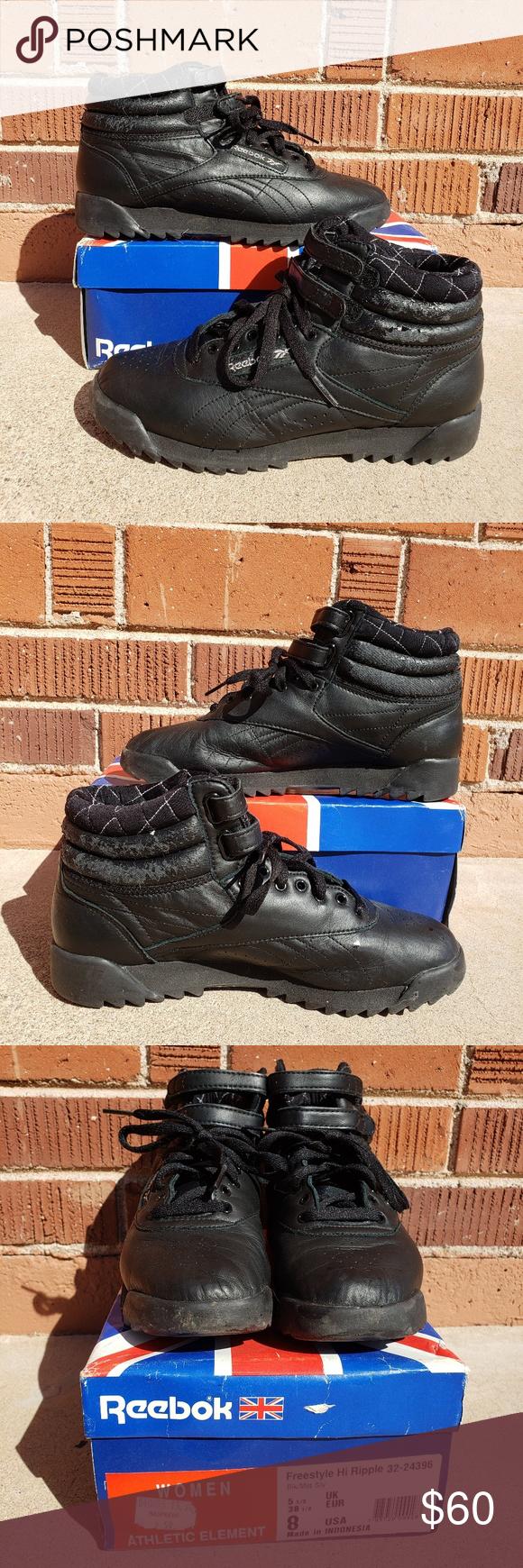Reebok] Freestyle Hi Ripple Sneakers