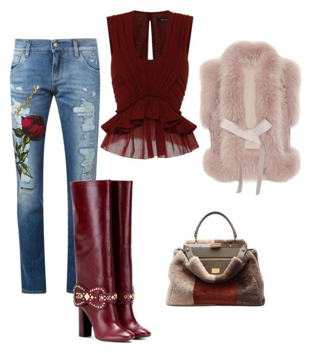 """Cosmina"" by cosmina79 on Polyvore featuring Dolce&Gabbana, Isabel Marant, Tory Burch, Fendi and Elie Saab"