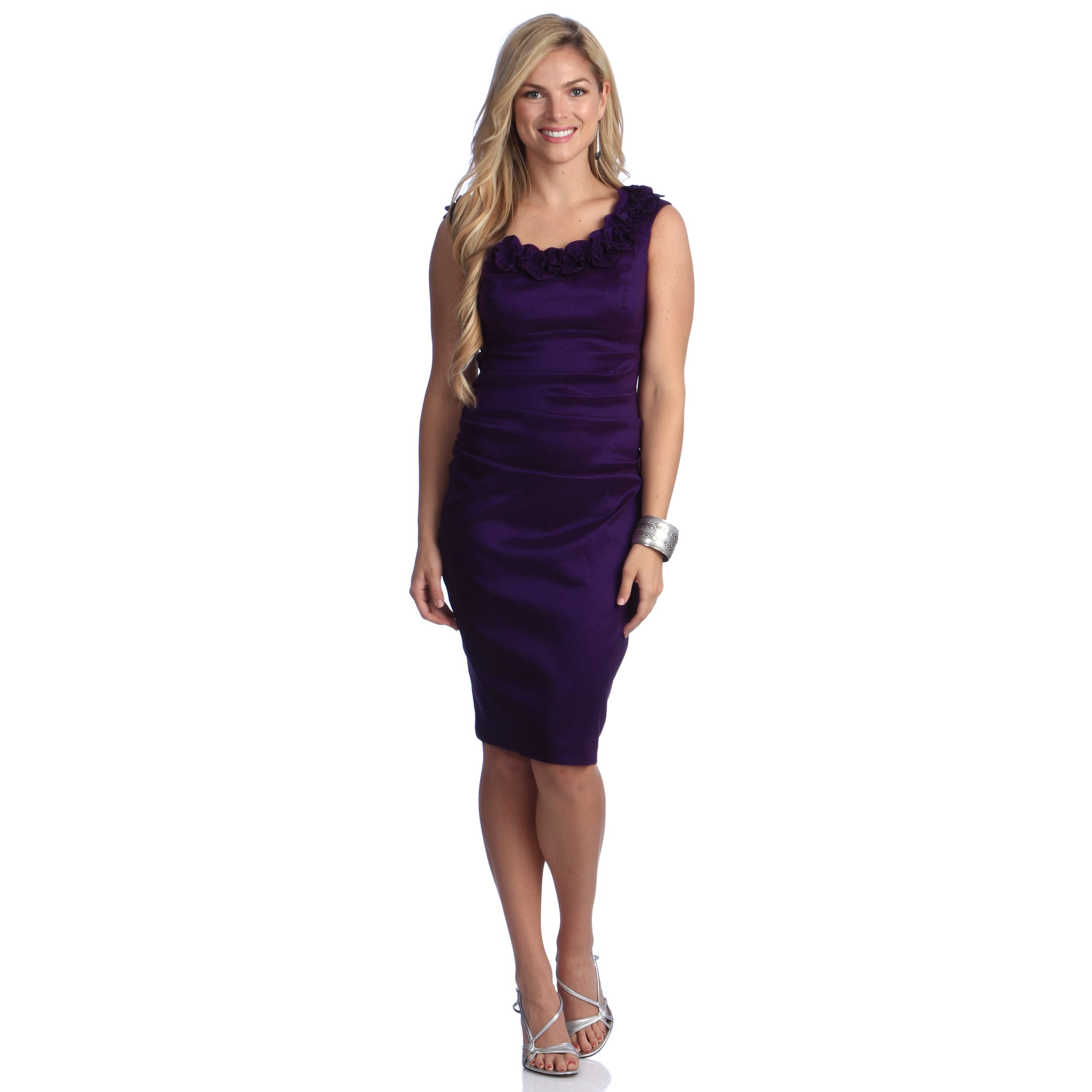 This plum london times dress is perfect for showing off your curves