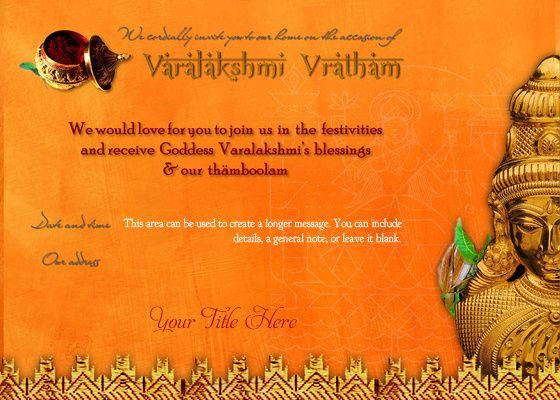 Free Varalakshmi Vratham Nombu Evites By ōviya Design Studio On Pingg Engagement Invitation Card Design House Warming Invitations Invitation Card Design