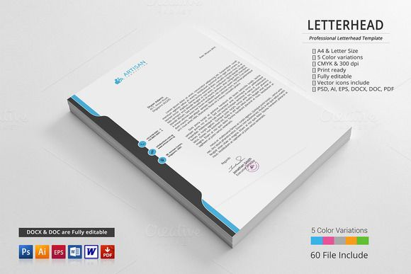 Letterhead Stationery templates, Personal branding and Template