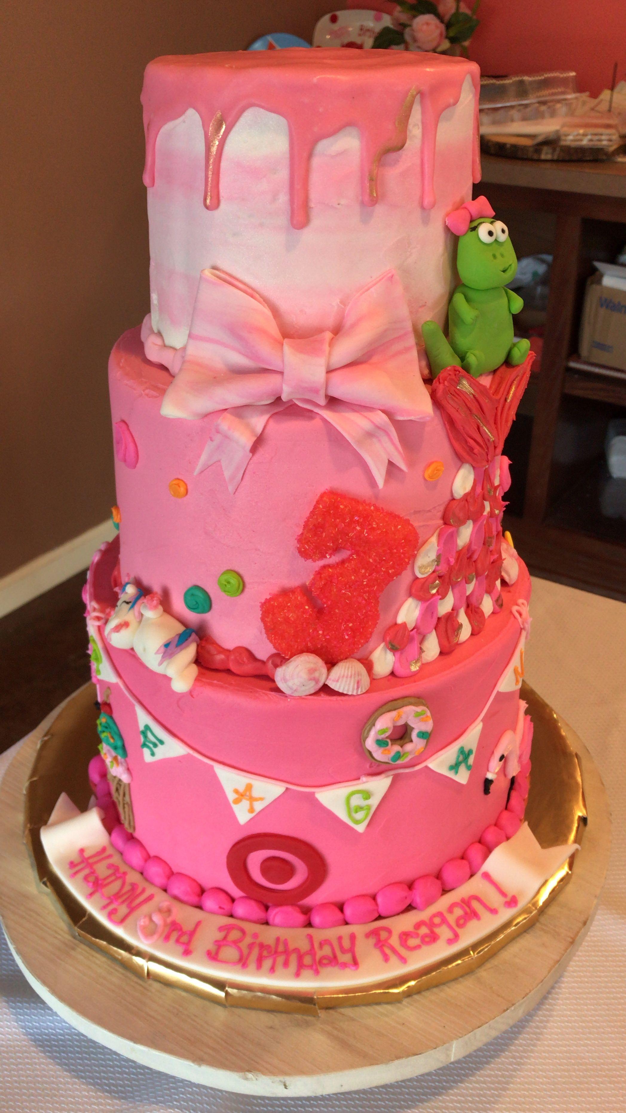 Surprising Ultimate Girl Pink Girly Tier Cake Peppa Pig Target Donut Icecream Funny Birthday Cards Online Unhofree Goldxyz