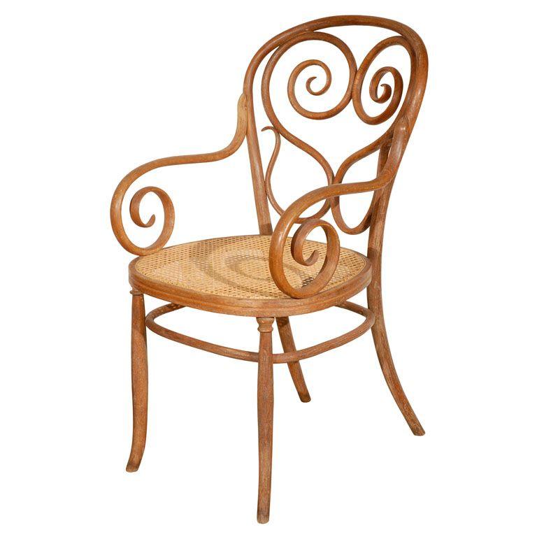 Michael Thonet Bentwood Armchair Austria 1900u0027s Rare Thonet Bentwood  Armchair. Very Good Condition Including The