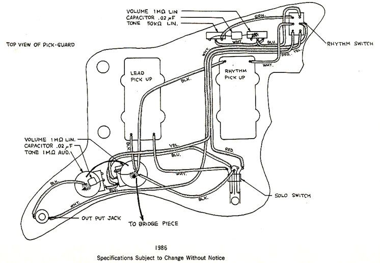 Squier Jazzmaster Wiring Diagram - Wiring Diagrams Entry on