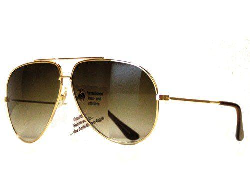 Tedd Haze Pilotenbrille gold gelb mit Brillen Beutel gaY4h3m