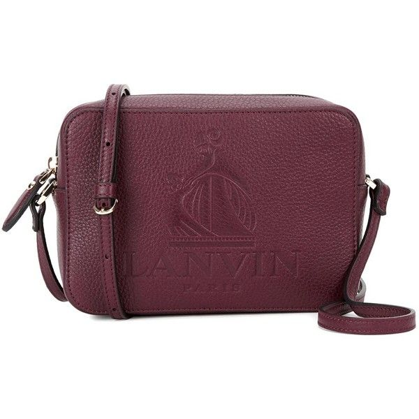 Lanvin Nomad mini bordeaux leather cross-body bag (£795) ❤ liked on Polyvore featuring bags, handbags, shoulder bags, leather handbags, leather cross body handbags, leather crossbody handbags, purple leather purse and purple leather handbags