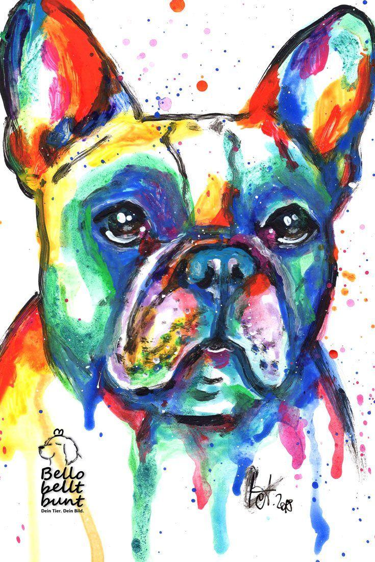 Ein farbenfrohes mit Acrylfarben gemaltes Bild einer