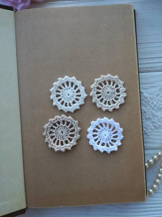 4 crochet elements.Round lace. Lace embellish #crochetelements 4 crochet elements.Round lace. Lace embellish #crochetelements