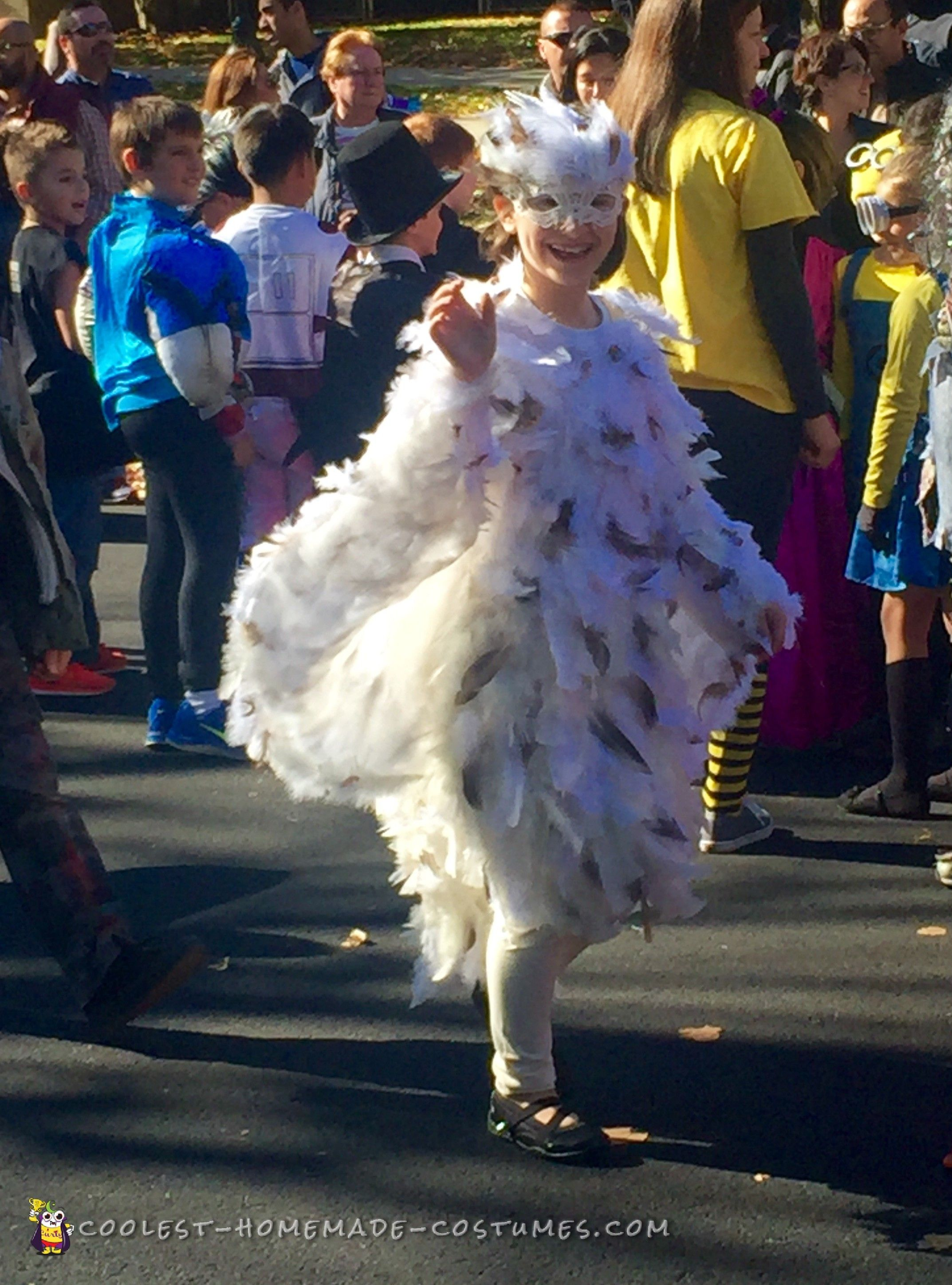 4b3f377f2e Feathery Snowy Owl Costume for my 8-Year Old Daughter... Coolest Homemade  Costumes