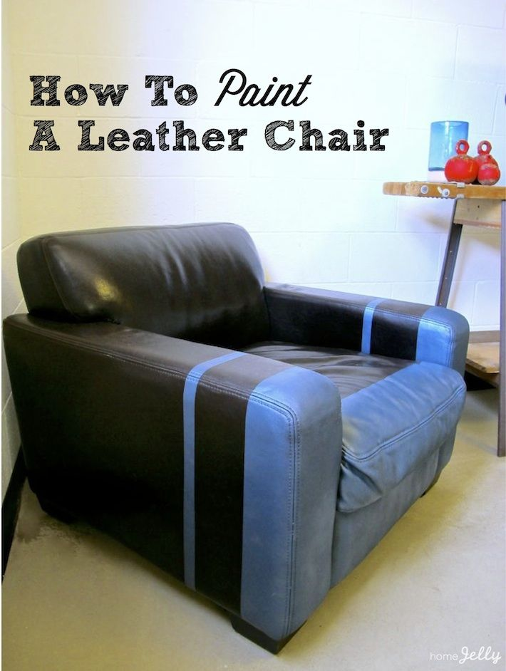 how to paint a leather chair via homejelly diy how tos in 2019 rh pinterest com paint sofa leather repair touch up paint for leather sofa