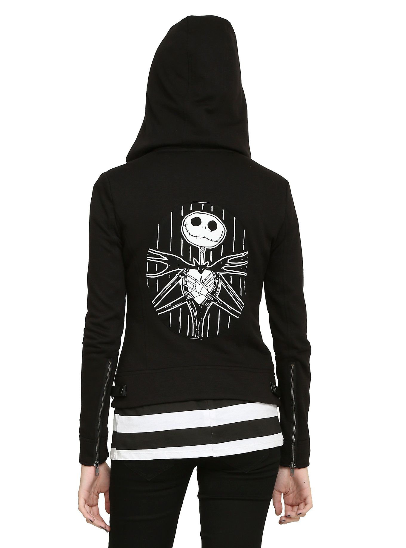 The Nightmare Before Christmas Jack Heads Moto Jacket | Hot Topic ...