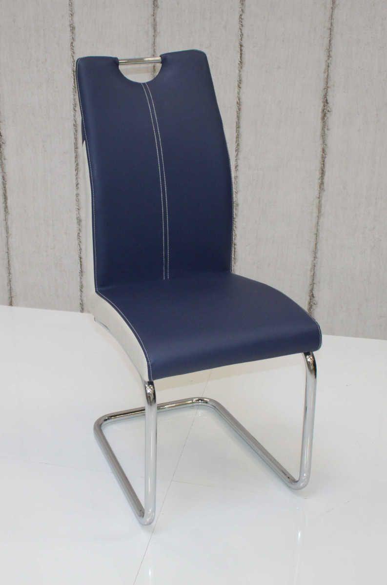 Schwingstuhl CHANTAL ergonomisch in 4er Set Königsblau / Antikweiß ...