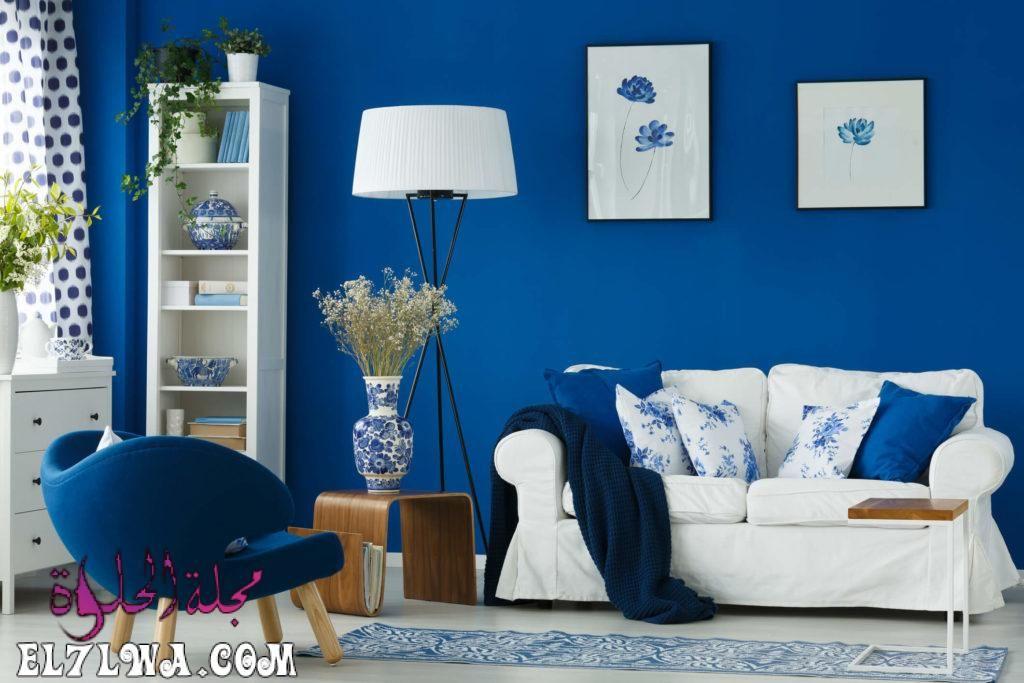 اختيار الوان دهانات الريسبشن أحد الأمور الهامة التي يجب اختيارها بعناية حيث أن الريسبشن يعد واجهة المنزل الرئيس Room Colors Blue Living Room Living Room Colors