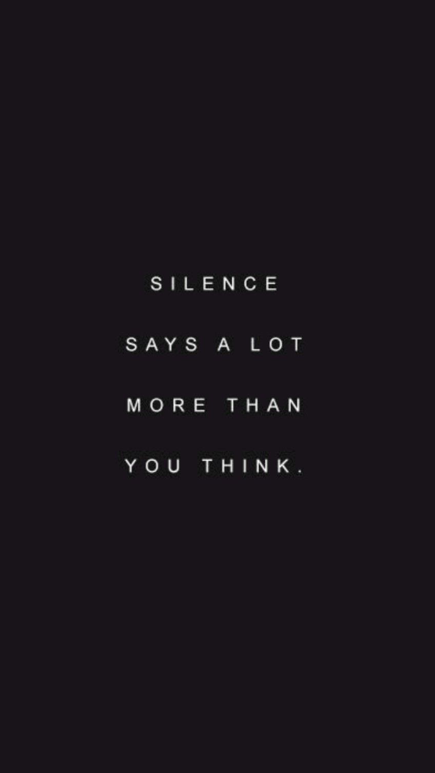 SILENCE IS BLISS SOMETIMES 💙