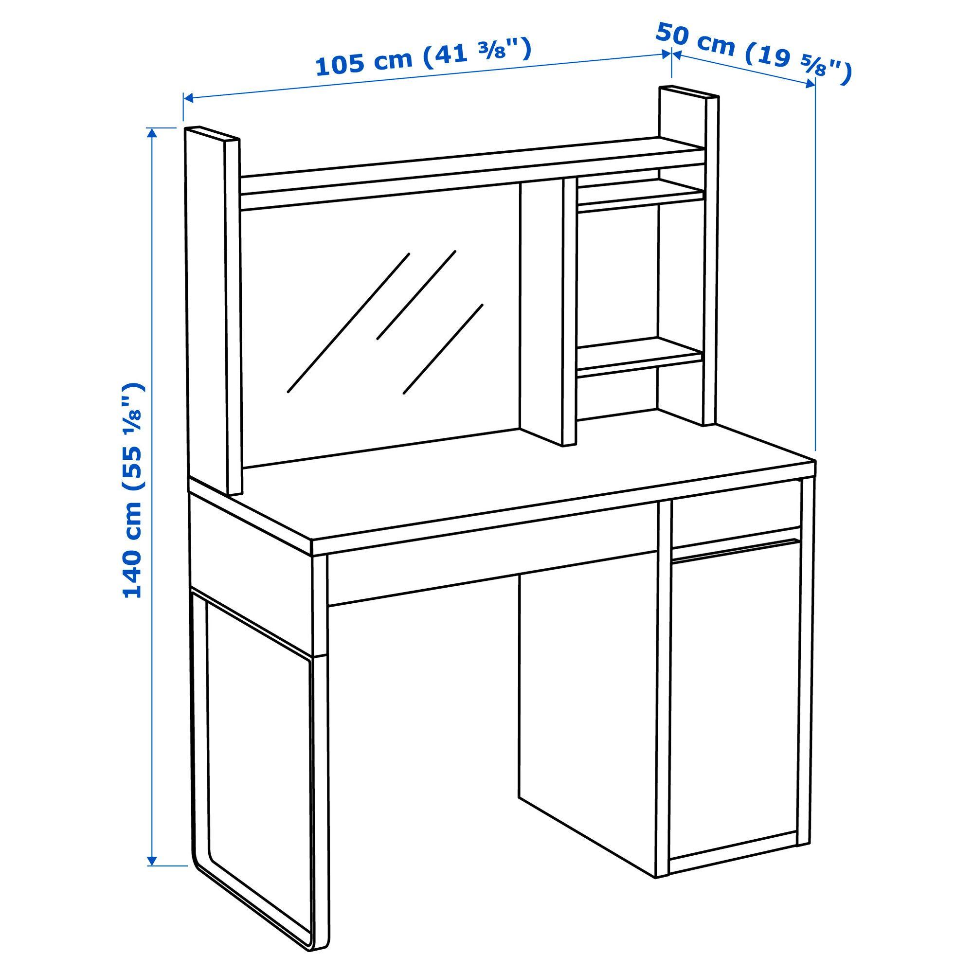Concesión algas marinas caldera  MICKE Escritorio, blanco, 105x50 cm - IKEA | Micke desk, Ikea micke, Ikea  micke desk