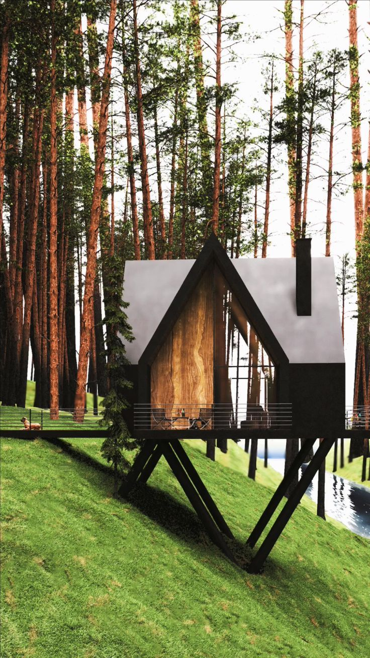 Slope House: A Tiny Cabin in Gilan, Iran by Milad Eshtiyaghi Studio