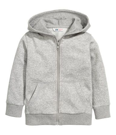 Hooded Jacket | Gray melange | Kids | H&M US