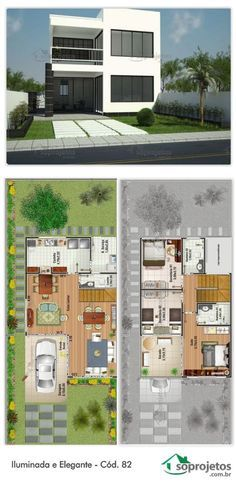 Iluminada E Elegante   Cód. 82 | Maison Moderne, Plan Maison Moderne Et  Plans Maison