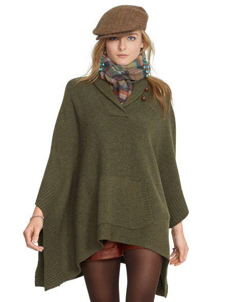 free delivery beauty size 7 Wool-Cashmere Poncho - Polo Ralph Lauren Crewnecks & Tanks ...