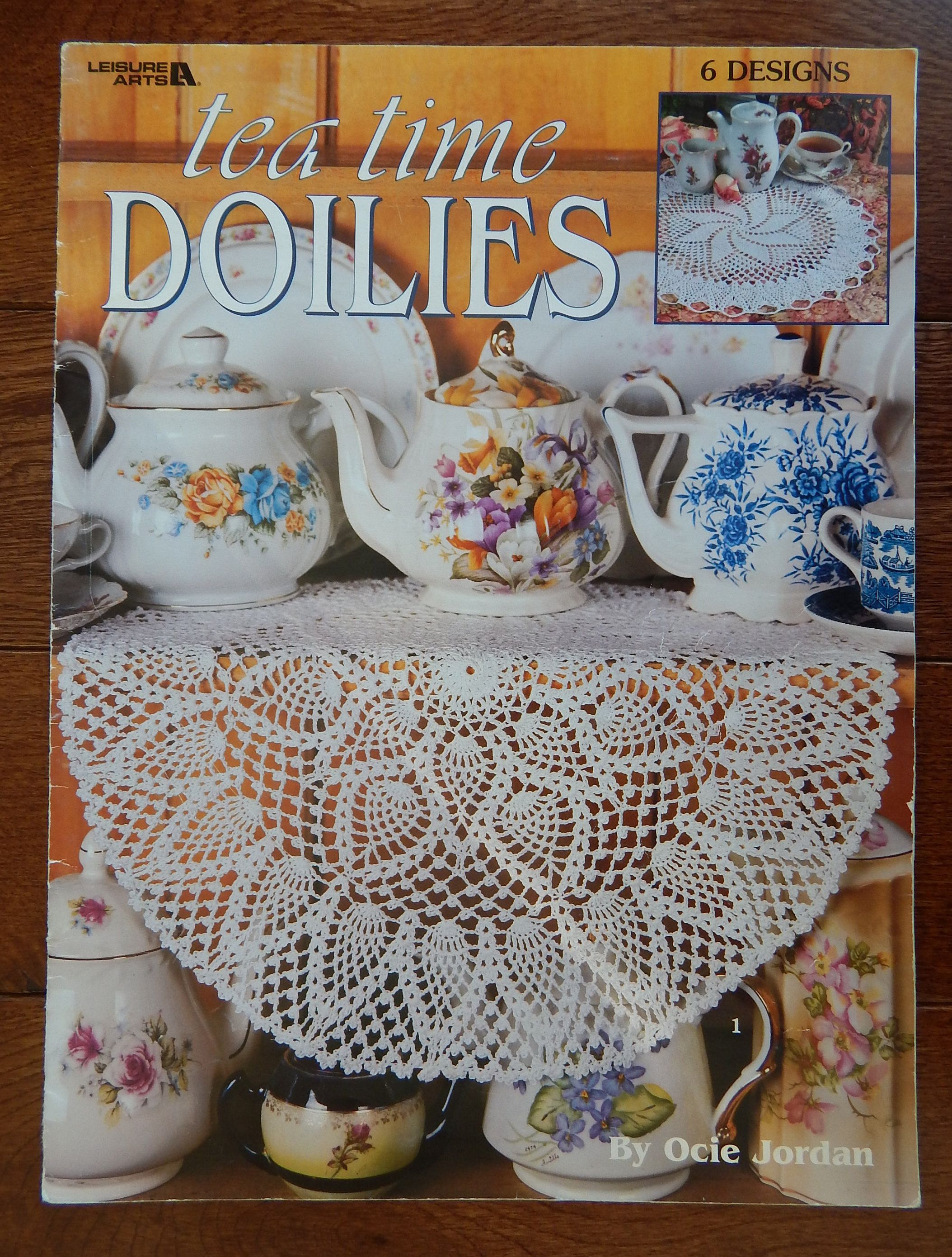 Crochet Pineapple Doily Patterns / Leisure Arts Tea Time Doilies, 6 ...