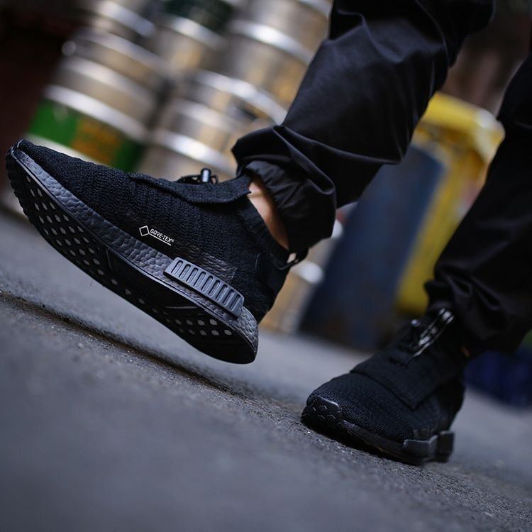 2754b85a8b7 adidas NMD TS1 Gore Tex Triple Black Sneakers  Cool