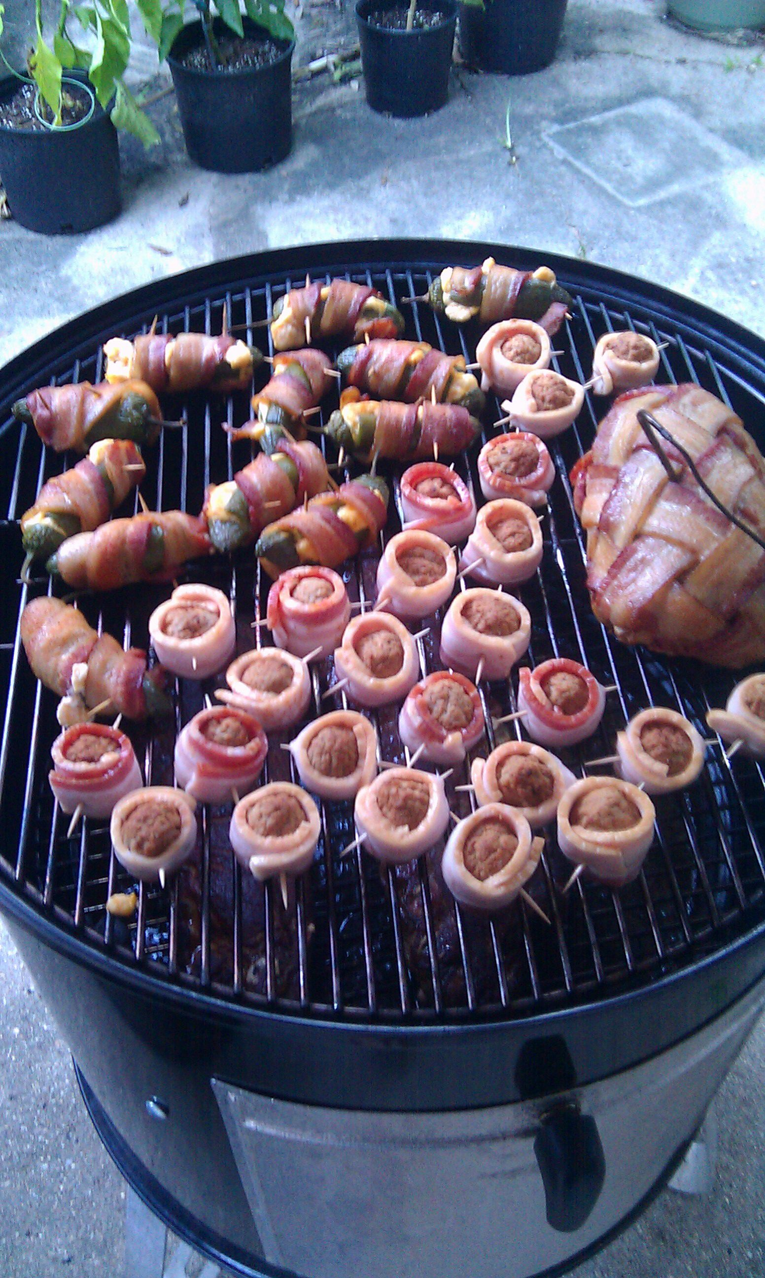 Moinks Abts And Bacon Weave Wrapped Sausage Fatty Smoking On My