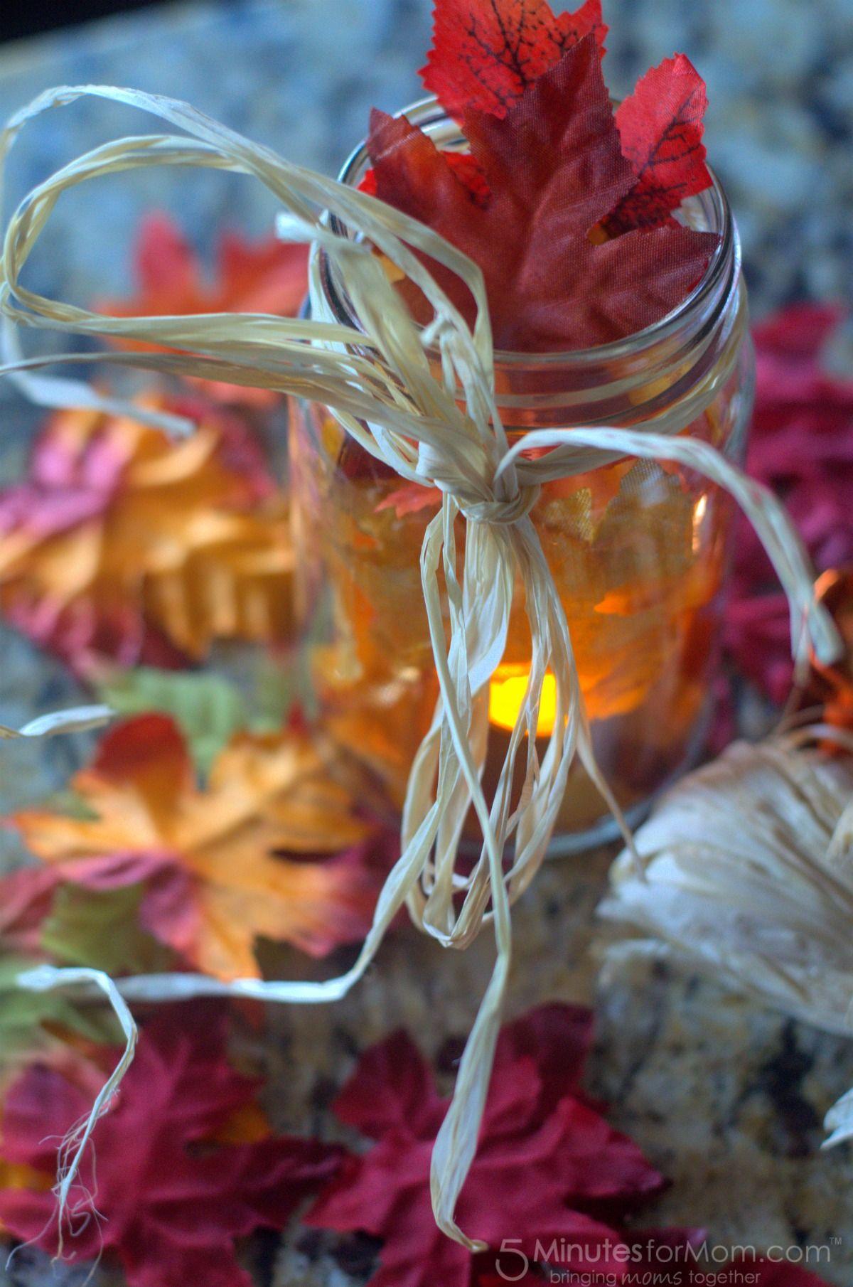 Easy diy fall decoration harvest mason jar pinterest jar