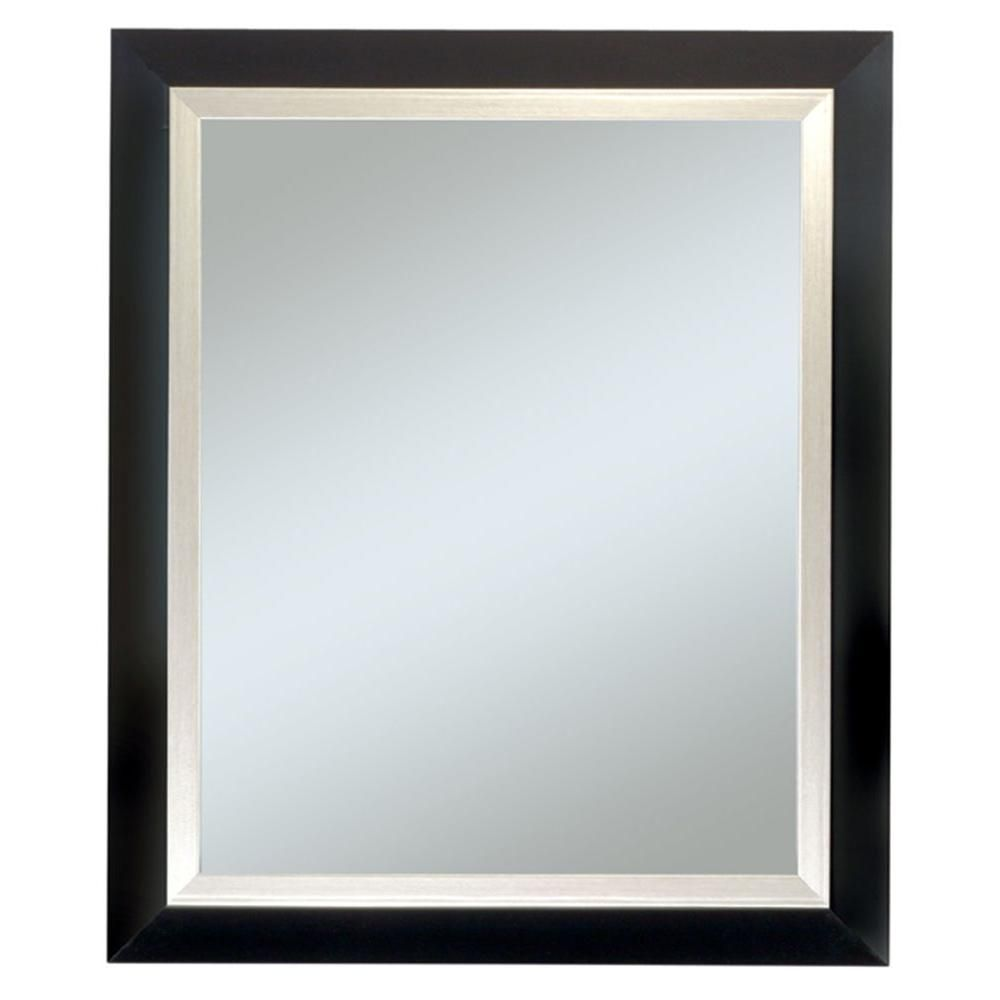 null Executive Black Frame with Silver Trim Wall Mirror | 60 RSD ...