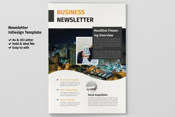 Business Newsletter Template @creativework247 Brochure Design - business newsletter