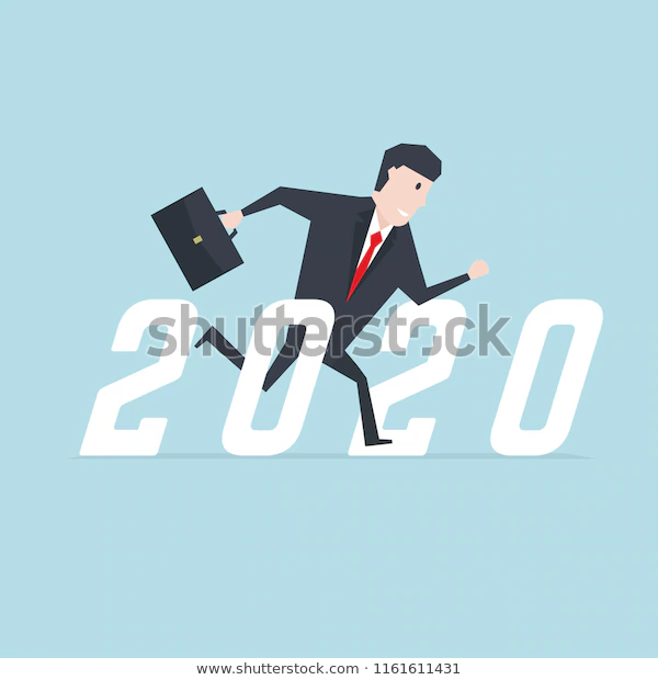 Businessman Running Success 2020 Stock Vector Royalty Free 1161611431 Business Man Royalty Free Vector
