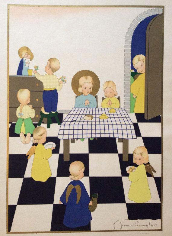 James Pennyless, Belgium, 1945 children door JoHulsteinFinePrints
