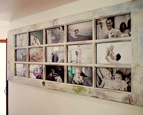 Ideas On Instagram Reutilisez Une Vieille Porte Fenetre En Bois Pour Creer Un Cadre Photo Geant Reuse An Old Old Door Home Projects Diy Projects