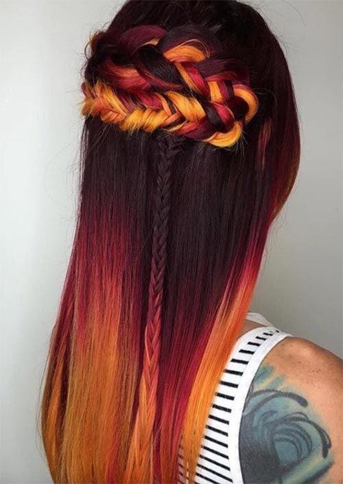 53 heißesten Herbst Haarfarben zu versuchen: Trends, Ideen und Tipps #fallhaircolors