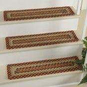Best Country Spice Cotton Braided Stair Tread Stair Tread 400 x 300