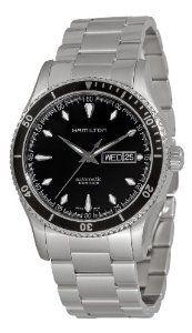 Hamilton Men's H37565131 Seaview Day Date Black Dial Watch Hamilton. Save 33 Off!. $719.99. Black dial. Day date. Water-resistant to 330 feet (100 M). Luminous hands; Round case. Push button deployant clasp