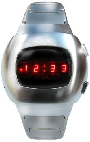 Space LED Watch - Iconic Silver Retro 70s Style Digital Watch - Limited  Edition - Collectors Classic Model 34b22c63dac