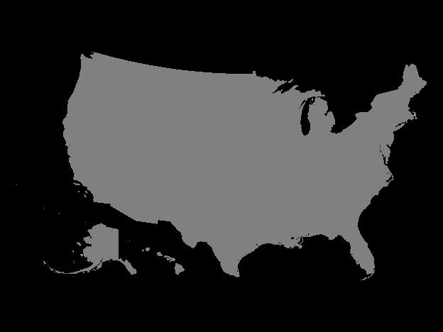 Grey Map of United States | Grey Maps | United states map ...