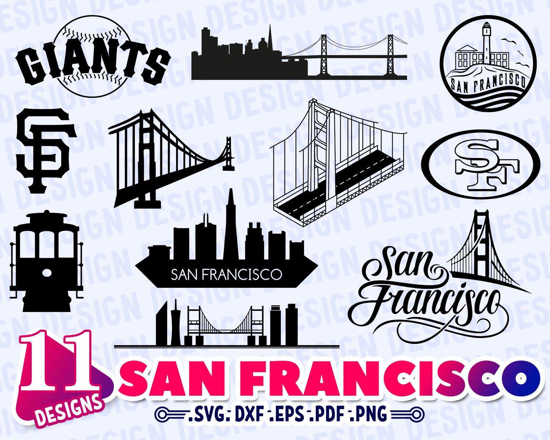 San Francisco Svg San Francisco Skyline Svg San Francisco Etsy Monogram Svg Lettering Fonts Old English Font
