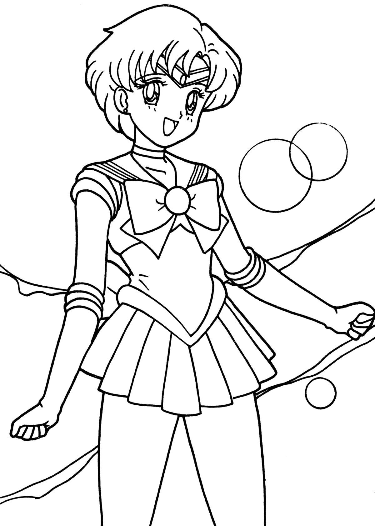 Sailor Mercury Happy | Sailor Moon Coloring Pages | Pinterest ...