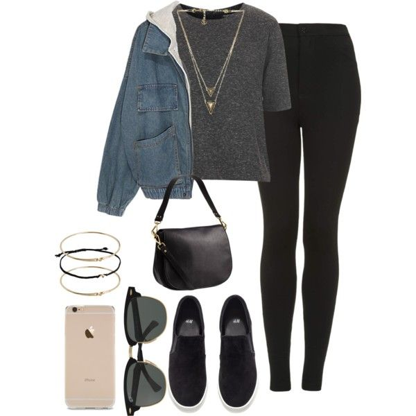 *-* by sassypayne on Polyvore featuring polyvore, fashion, style, Topshop, H&M, ASOS, House of Harlow 1960 and Ray-Ban