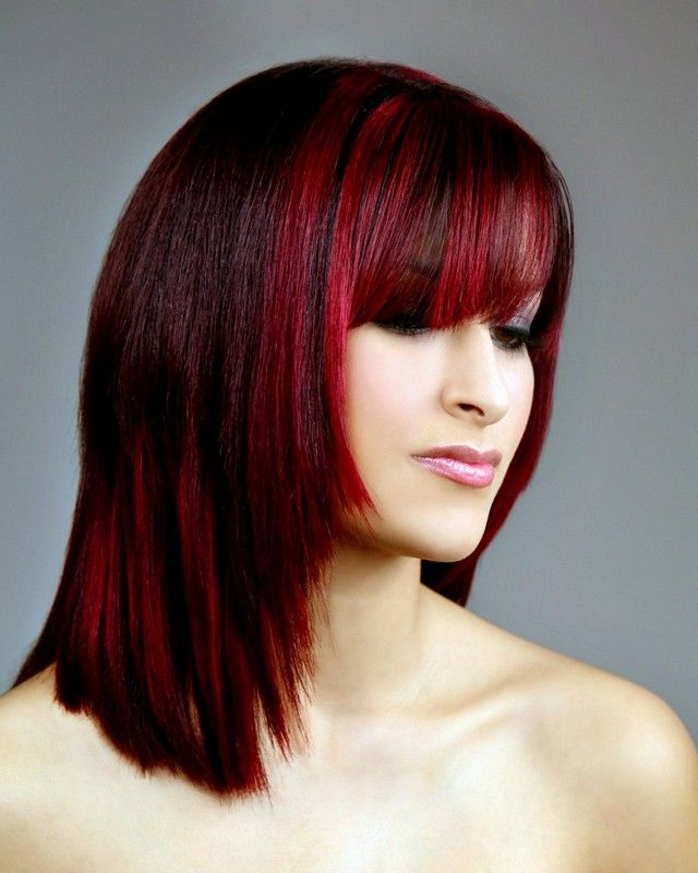 Dark Red Brown Hair Color With Highlights Bob Hairstyles With