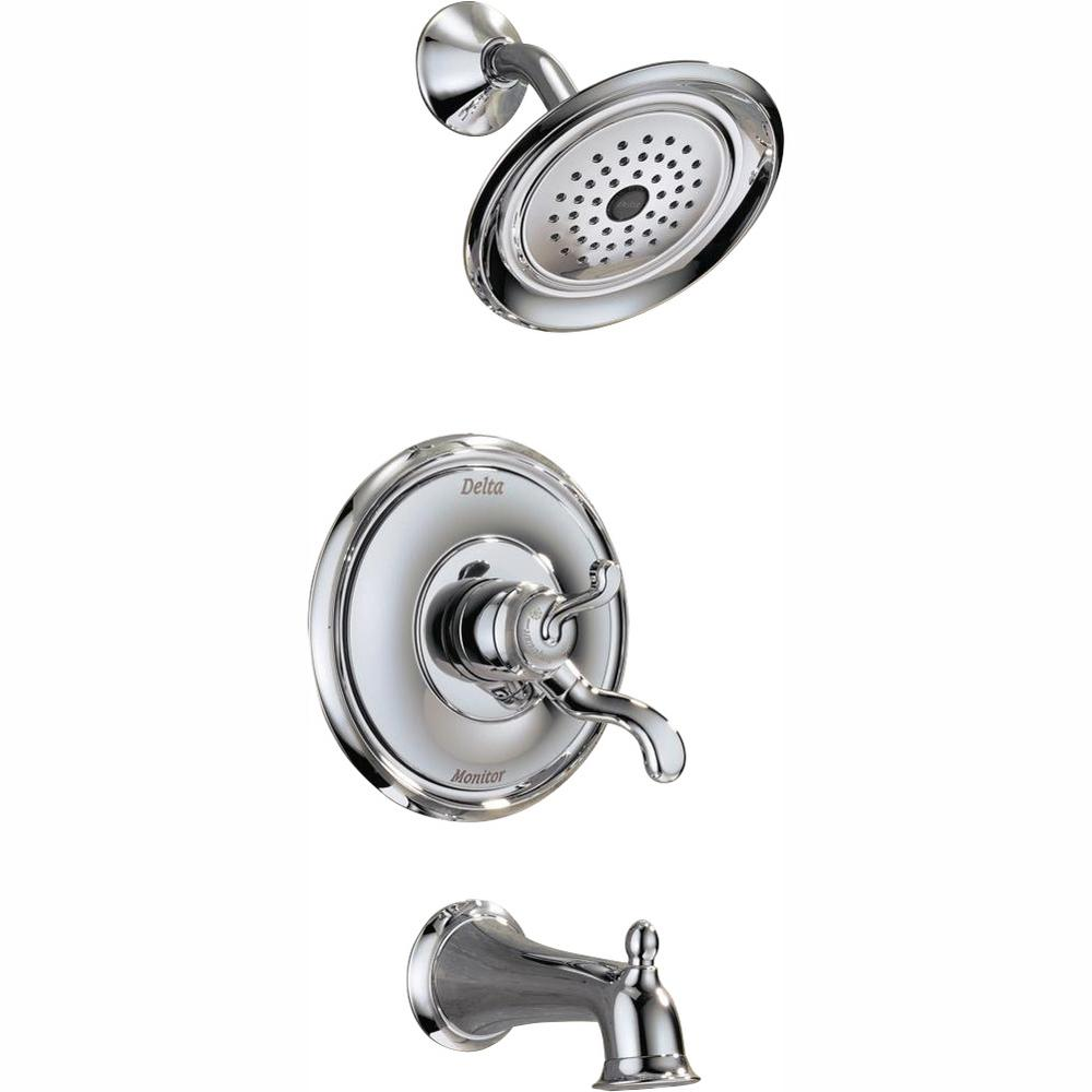 Delta Vessona Single Handle 1 Spray Tub And Shower Faucet In