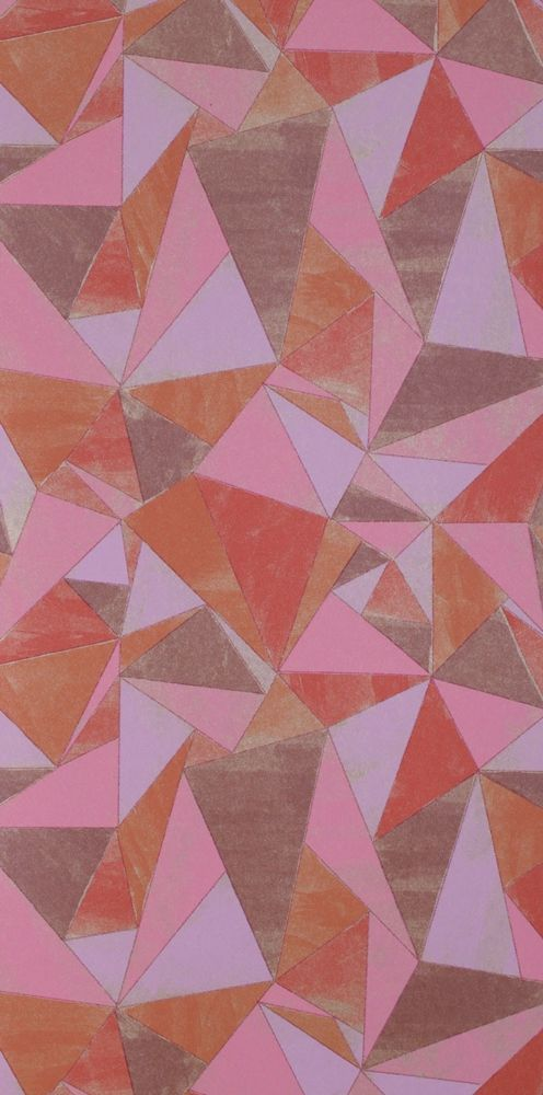 Origami Blush Wallpaper from Mimou. #design #wallpaper #pattern #origami