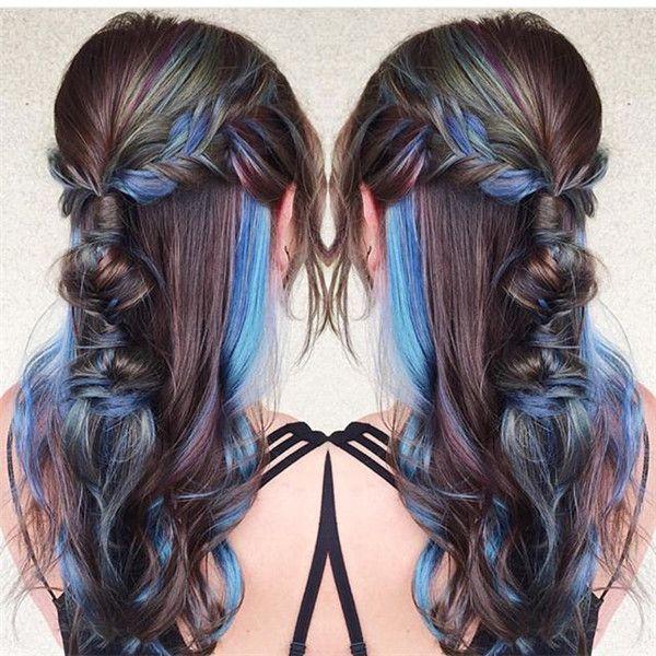 20 Galaxy Hair Color Ideas,the Breathtaking Beauty -,  #Beauty #Breathtaking #color #Galaxy #hair #Ideasthe #UnderlightsHairgreen