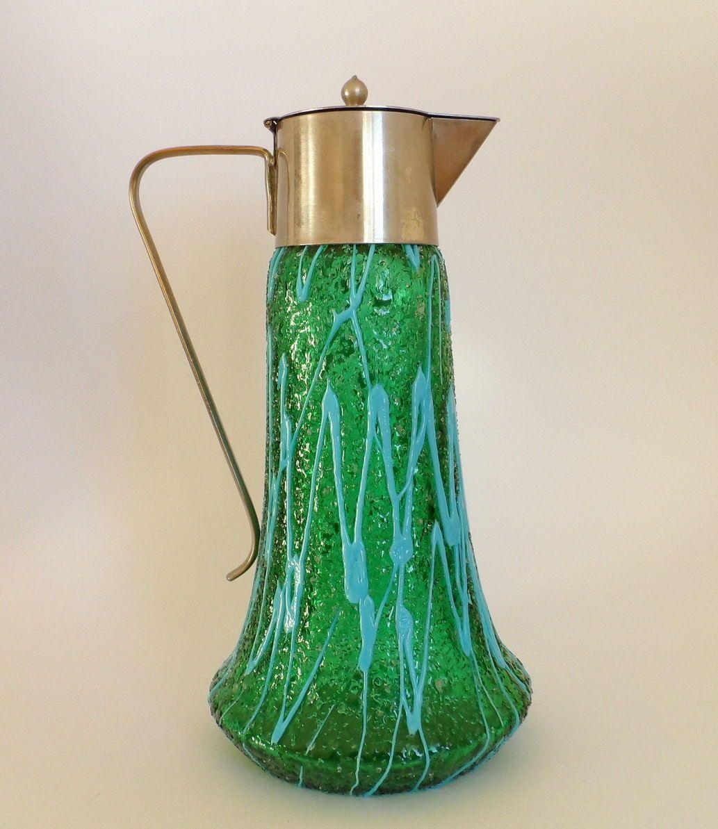 Antique art nouveau pallme konig art glass jug pitcher loetz antique art nouveau pallme konig art glass jug pitcher loetz kralik rindskopf reviewsmspy